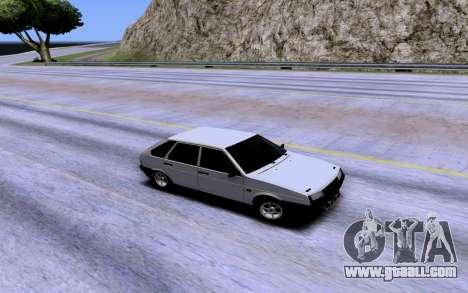 VAZ 2109 Turbo for GTA San Andreas upper view