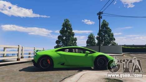 GTA 5 LibertyWalk Lamborghini Huracan left side view