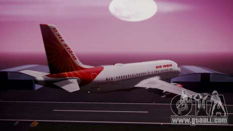 Airbus A319-100 Air India for GTA San Andreas left view