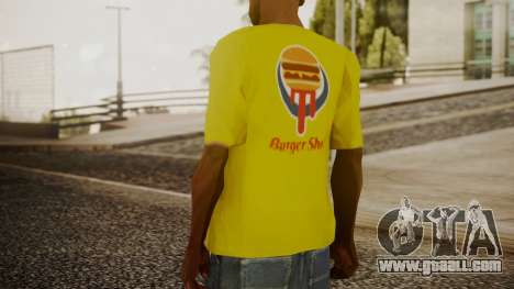 Burger Shot T-shirt Yellow for GTA San Andreas third screenshot