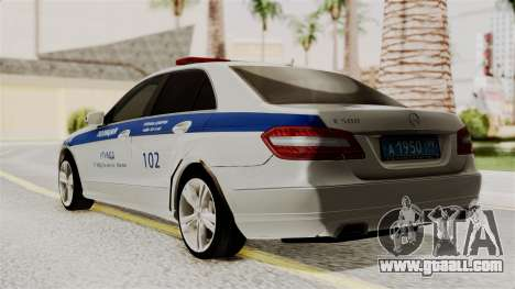 Mercedes-Benz E500 interior Ministry traffic pol for GTA San Andreas left view