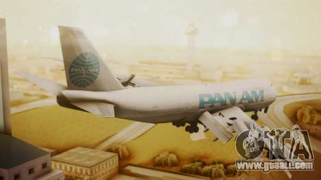 Boeing 747-100 Pan Am Clipper Juan T. Trippe for GTA San Andreas left view