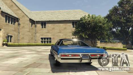 GTA 5 Chevrolet Impala 1972 rear left side view