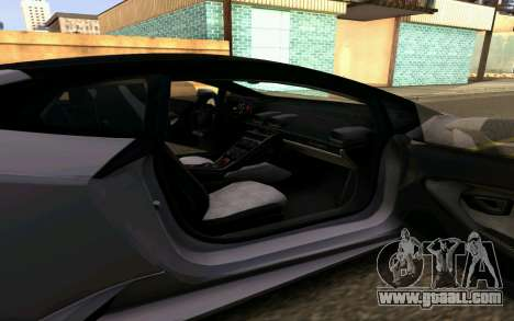 Lamborghini Huracan LP610 VELLANO for GTA San Andreas inner view