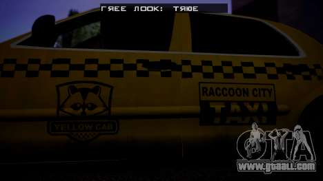 Raccoon City Taxi from Resident Evil ORC for GTA San Andreas back left view