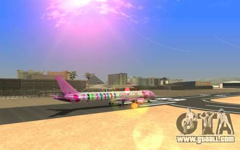 LoveLive Boeing 787-9 Livery for GTA San Andreas left view
