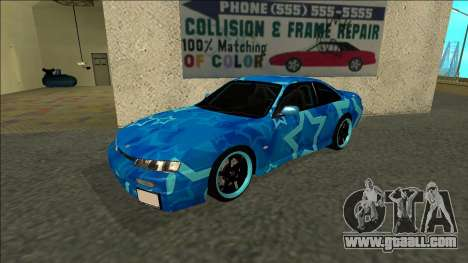 Nissan Silvia S14 Drift Blue Star for GTA San Andreas