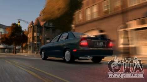 Daewoo Nubira II Sedan SX USA 2000 for GTA 4 back left view