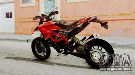 Ducati Hypermotard for GTA San Andreas left view