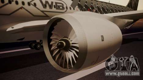 Airbus 350-900XWB MSN2 Carbon Livery for GTA San Andreas right view