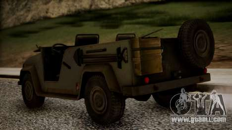 UAZ MGS5 TPP for GTA San Andreas left view