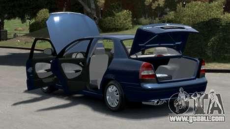 Daewoo Nubira II Sedan S PL 2000 for GTA 4 inner view
