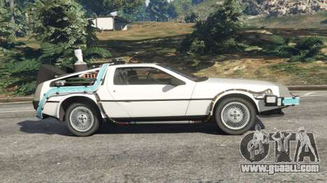 GTA 5 DeLorean DMC-12 Back To The Future v0.5 left side view