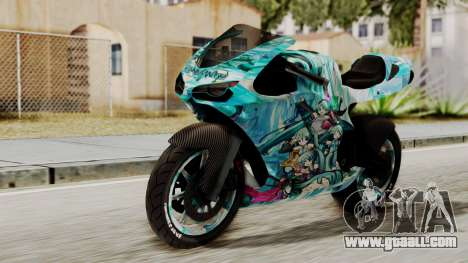 Bati Motorcycle Hatsune Miku Itasha for GTA San Andreas