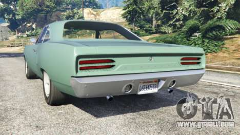 GTA 5 Plymouth Road Runner 1970 [fix] rear left side view