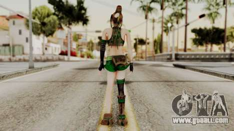 Dynasty Warriors 8 - Bao Sannian Green Costume for GTA San Andreas third screenshot