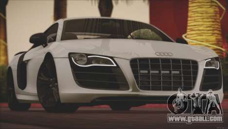 Audi R8 GT 2012 Sport Tuning V 1.0 for GTA San Andreas bottom view