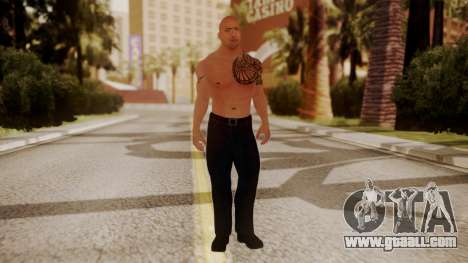 WWE 2K15 The Rock for GTA San Andreas second screenshot