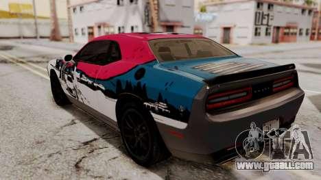 Dodge Challenger SRT Hellcat 2015 IVF PJ for GTA San Andreas engine