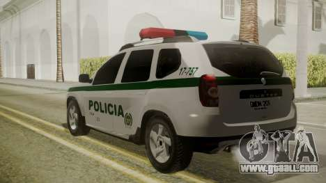 Renault Duster Patrulla Policia Colombiana for GTA San Andreas left view