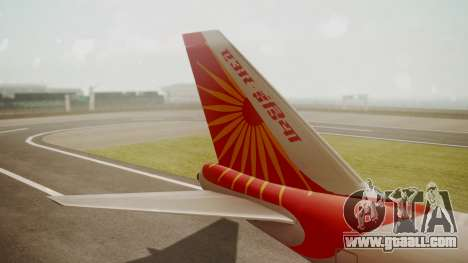 Boeing 747-8I Air India for GTA San Andreas back left view