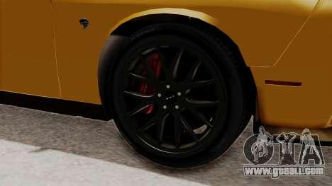 Dodge Challenger SRT Hellcat 2015 IVF PJ for GTA San Andreas back left view