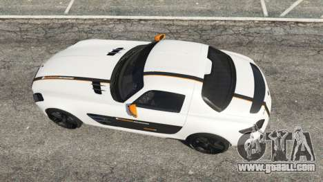 GTA 5 Mercedes-Benz SLS AMG Coupe back view