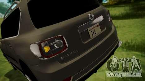 Nissan Patrol IMPUL 2014 for GTA San Andreas bottom view