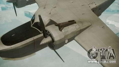 Grumman G-21 Goose Grey for GTA San Andreas right view