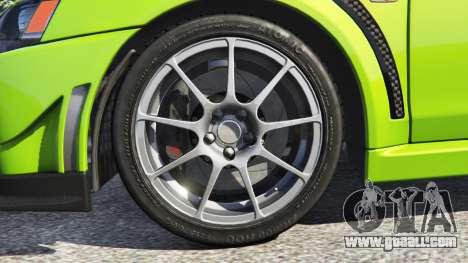 GTA 5 Mitsubishi Lancer Evolution X FQ-400 rear right side view