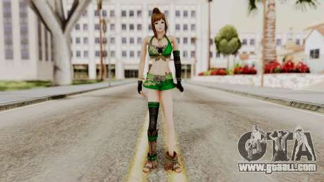 Dynasty Warriors 8 - Bao Sannian Green Costume for GTA San Andreas second screenshot