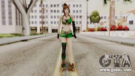 Dynasty Warriors 8 - Bao Sannian Green Costume for GTA San Andreas second screenshot