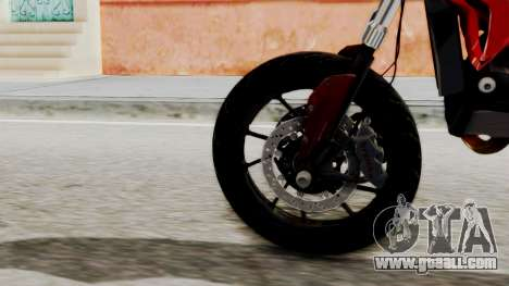 Ducati Hypermotard for GTA San Andreas back left view