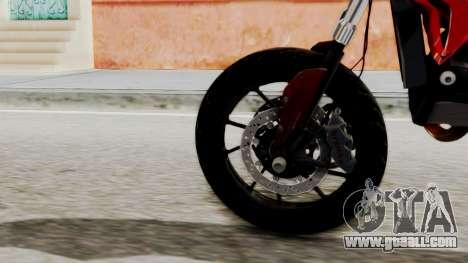 Ducati Hypermotard for GTA San Andreas back left view