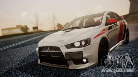 Mitsubishi Lancer Evolution X 2015 Final Edition for GTA San Andreas