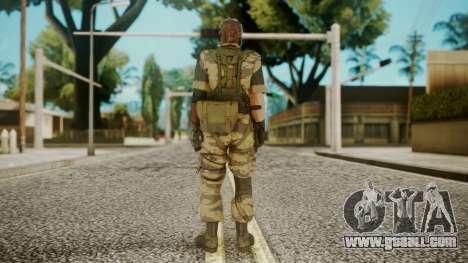 Venom Snake Tiger Stripe for GTA San Andreas third screenshot