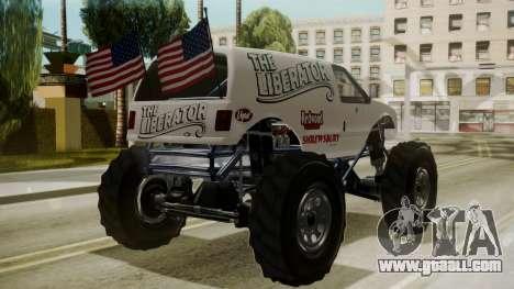 GTA 5 Vapid The Liberator for GTA San Andreas left view
