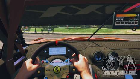 GTA 5 Ferrari 599XX Super Sports Car back view