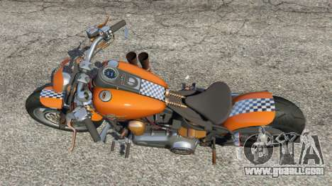 GTA 5 Harley-Davidson Fat Boy Lo Racing Bobber v1.2 back view