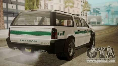 GTA 5 Declasse Granger Park Ranger IVF for GTA San Andreas left view