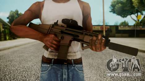 SCAR-L Custom for GTA San Andreas third screenshot