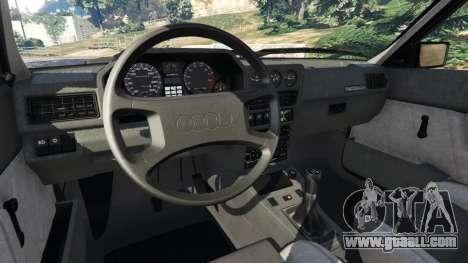 GTA 5 Audi Sport quattro v1.4 rear right side view