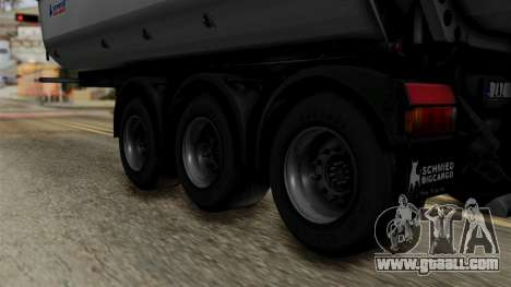 Schmied Bigcargo Solid Trailer Stock for GTA San Andreas back left view