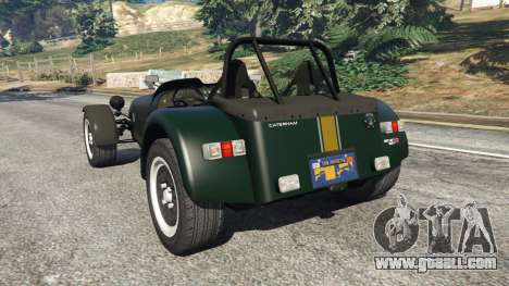 GTA 5 Caterham Super Seven 620R rear left side view