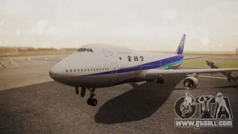 Boeing 747SR All Nippon Airways (NC) for GTA San Andreas left view