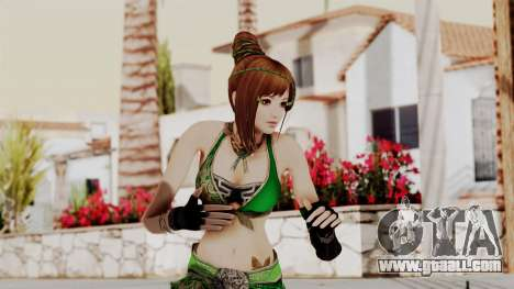 Dynasty Warriors 8 - Bao Sannian Green Costume for GTA San Andreas