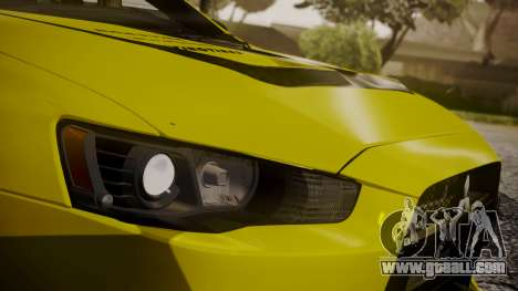 Mitsubishi Lancer Evolution X 2015 Final Edition for GTA San Andreas