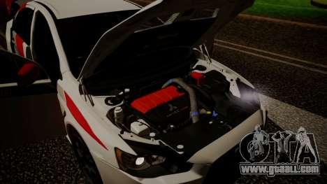 Mitsubishi Lancer Evolution X 2015 Final Edition for GTA San Andreas inner view