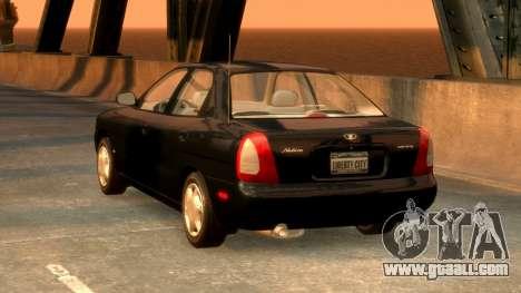 Daewoo Nubira I Sedan SX USA 1999 for GTA 4 back left view