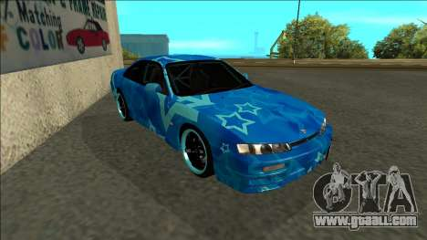 Nissan Silvia S14 Drift Blue Star for GTA San Andreas left view